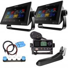 Raymarine Axiom 9 RV Combo Boat in a Box w-2 - 9- Axiom Displays- RV-100 Transducer- LNC2 Charts- Ray53- Switch Cables