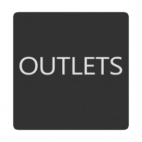 Blue Sea 6520-0333 Square Format Outlets Label
