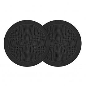FUSION FM-F65RB FM Series 6-5- Flush Mount Round Marine Speakers - Black Grill - 120W