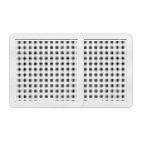 FUSION FM-65SW FM Series 6-5- 120 Flush Mount Square Marine Speakers - White Grill - 120W