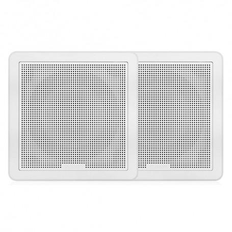 FUSION FM-F77RW FM Series 7-7- Flush Mount Square Marine Speakers - White Grill - 200W