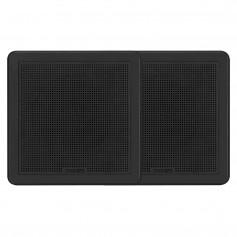 FUSION FM-F77RB FM Series 7-7- Flush Mount Square Marine Speakers - Black Grill - 200W