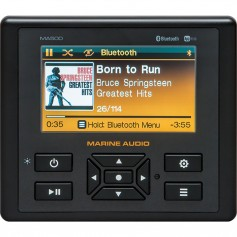 Marine Audio MA500 4-3- Color Stereo w-Bluetooth- USB- AUX Inputs App Control
