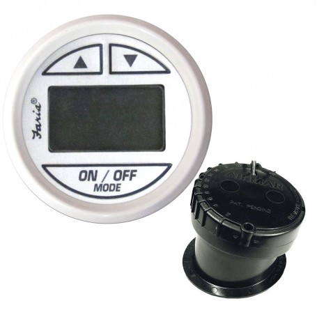 Faria 2- Depth Sounder Dress White w-In-Hull Mounted Transducer