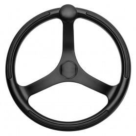 Schmitt Ongaro Primus Wheel 13-5- Black 3-4- Tapered Shaft w-Knob Finger Grips - Black Powder Coat