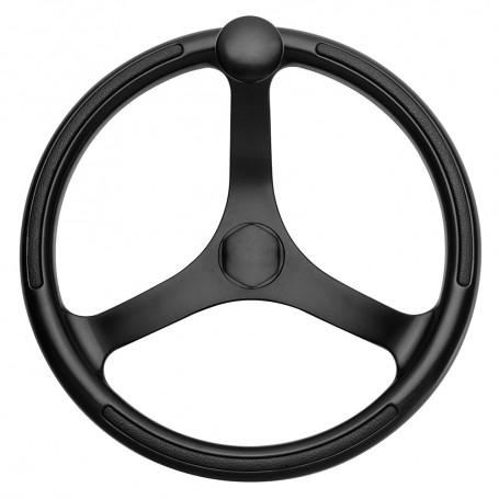 Schmitt Ongaro Primus Wheel 13-5- Black 3-4- Tapered Shaft w-Knob Finger Grips - Black Powder Coat