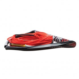 Hyperlite 75 Rope w-Chamois Handle Fuse Mainline Combo - Red - 5 Section - 15- Handle
