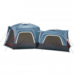 Coleman 3-Person 6-Person Connectable Tent Bundle w-Fast Pitch Setup - Set of 2 - Blue