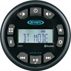 JENSEN 3- JMS3RTL Bluetooth AM-FM-WB-USB Waterproof Stereo - Black