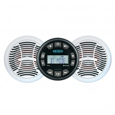 JENSEN JMS3SSPKG Marine Entertainment System w-AM-FM-USB Bluetooth Stereo Pair AMS620W Speakers