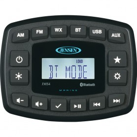 JENSEN 4- JMS4RTL Waterproof Bluetooth AM-FM-WB-USB Stereo - Black