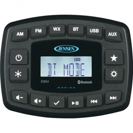 JENSEN 4- JMS4RTL Waterproof Bluetooth AM-FM-WB-USB Stereo - Black