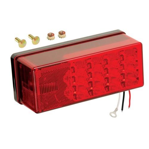 Wesbar 3- x 8- Waterproof LED 8-Function- Left-Roadside Tail Light