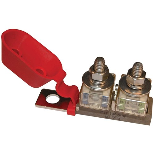 Blue Sea 2151 Terminal Fuse Block - 3-8- Mounting Hole - 2 Terminal Studs