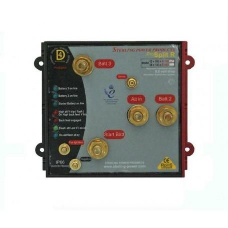 Sterling ProSplit-R Zero Volt Drop Marine Battery Isolator (12V, 120 Amp)
