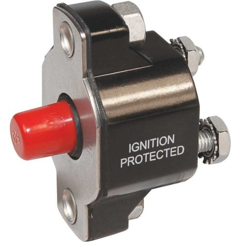 Blue Sea 2140 Medium Duty Push Button Reset-Only - 30A