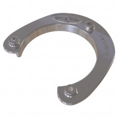 Mate Series Stainless Steel Rod Cup Holder Backing Plate f-Round Rod-Cup Only f-3-3-4- Holes