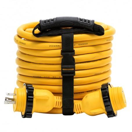Camco 30 Amp Power Grip Marine Extension Cord - 50 M-Locking-F-Locking Adapter