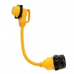 Camco 30 Amp Power Grip Marine 18- Dogbone - M-Lock-90F-Locking Adapter