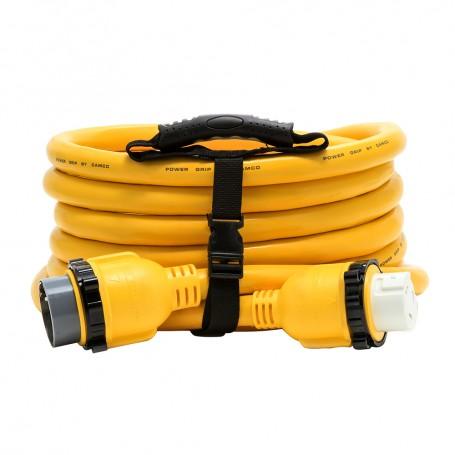 Camco 50 Amp Power Grip Marine Extension Cord - 25 M-Locking-F-Locking Adapter