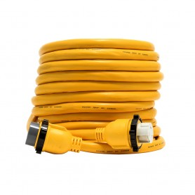 Camco 50 Amp Power Grip Marine Extension Cord - 50 M-Locking-F-Locking Adapter