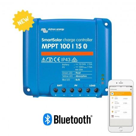 Victron Smartsolar MPPT 100/15 15 Amp Bluetooth Charge Controller Regulator
