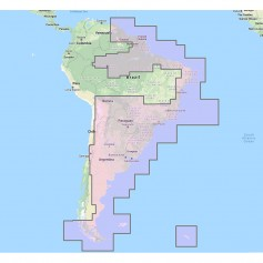 Furuno South America East Vector Charts - 3D Data Satellite Photos - Unlock Code