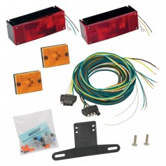 Wesbar Waterproof Over 80- Low Profile Trailer Light Kit