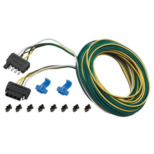 Wesbar 25 ft- 5-Wire Wishbone Flat Wiring Harness Kit