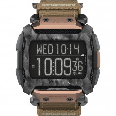 Timex Command 54mm - Black Case w-Black Fastwrap Copper Accent
