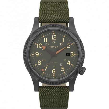 Timex Allied LT 40mm - Green Fabric Strap- Grey Case Green Dial