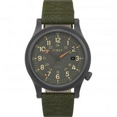 Timex Allied LT 40mm - Green Fabric Strap- Grey Case Green Dial