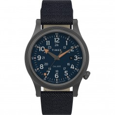 Timex Allied LT 40mm - Blue Fabric Strap- Grey Case Blue Dial