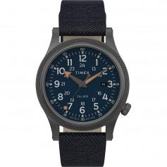 Timex Allied LT 40mm - Blue Fabric Strap- Grey Case Blue Dial
