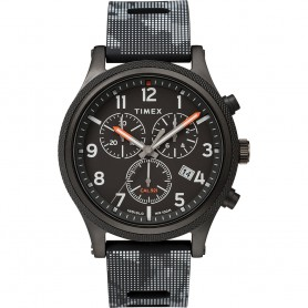 Timex Allied LT Chrono 42mm - Black Case w-Black Camo Dial