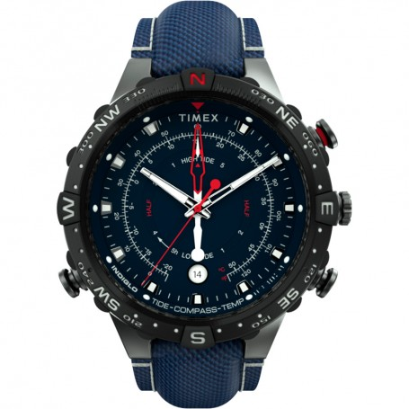 Timex Allied 45mm Tide Temp Compass - Gunmetal Blue