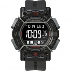 Timex Expedition Digital Face 47mm - Black Screen w-Black Resin Strap