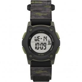 Timex Kids Digital 35mm Watch - Green Camo w-Fastwrap Strap