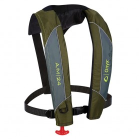 Onyx A-M-24 Automatic-Manual Inflatable PFD Life Jacket - Green