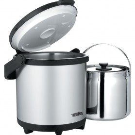 Thermos Cook Carry System - Stainless Steel-Black - 4-7 Qt