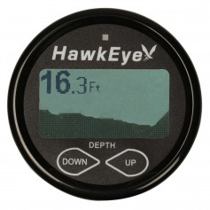 HawkEye DepthTrax 2BX In-Dash Digital Depth Temp Gauge - Transom Mount - 600