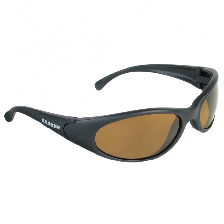 Harken Sport Sunglasses - Matte Black Rubberized Frame-Brown Lens