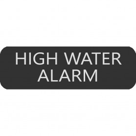 Blue Sea 8063-0264 Large Format High Water Alarm Label