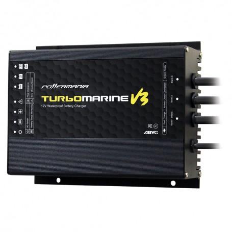 Powermania Turbo M212V3 12 Amp 2-Bank 12-24VDC Waterproof Charger