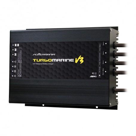 Powermania Turbo M430V3 30 Amp 4-Bank 12-24-36-48VDC Waterproof Charger