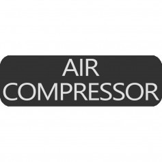 Blue Sea 8063-0025 Large Format Air Compressor Label