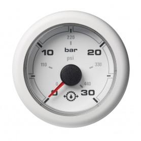 VDO Marine 2-1-16- -52MM- OceanLink Transmission Oil Pressure Gauge - White Dial Bezel