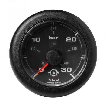 VDO Marine 2-1-16- -52MM- OceanLink Transmission Oil Pressure Gauge - Black Dial Bezel
