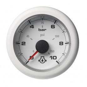 VDO Marine 2-1-16- -52mm- OceanLink Engine Oil Pressure Gauge - White Dial Bezel w-numerical reading