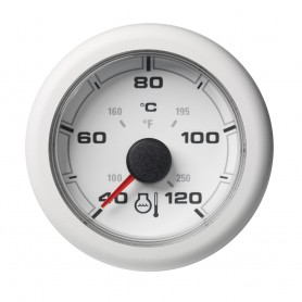 VDO Marine 2-1-16- -52mm- OceanLink Coolant Temperature Gauge - White Dial Bezel
